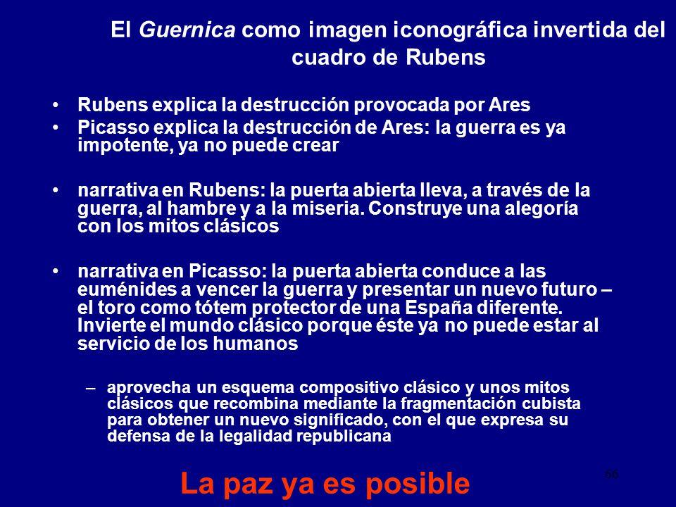 El Guernica como imagen iconográfica invertida del cuadro de Rubens