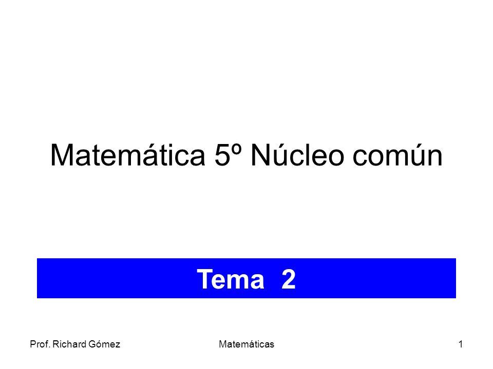 Matemática 5º Núcleo común