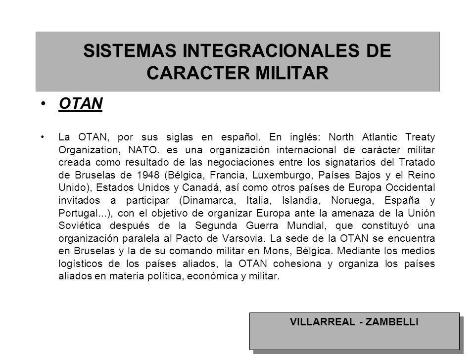 SISTEMAS INTEGRACIONALES DE CARACTER MILITAR
