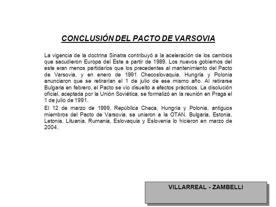 CONCLUSIÓN DEL PACTO DE VARSOVIA