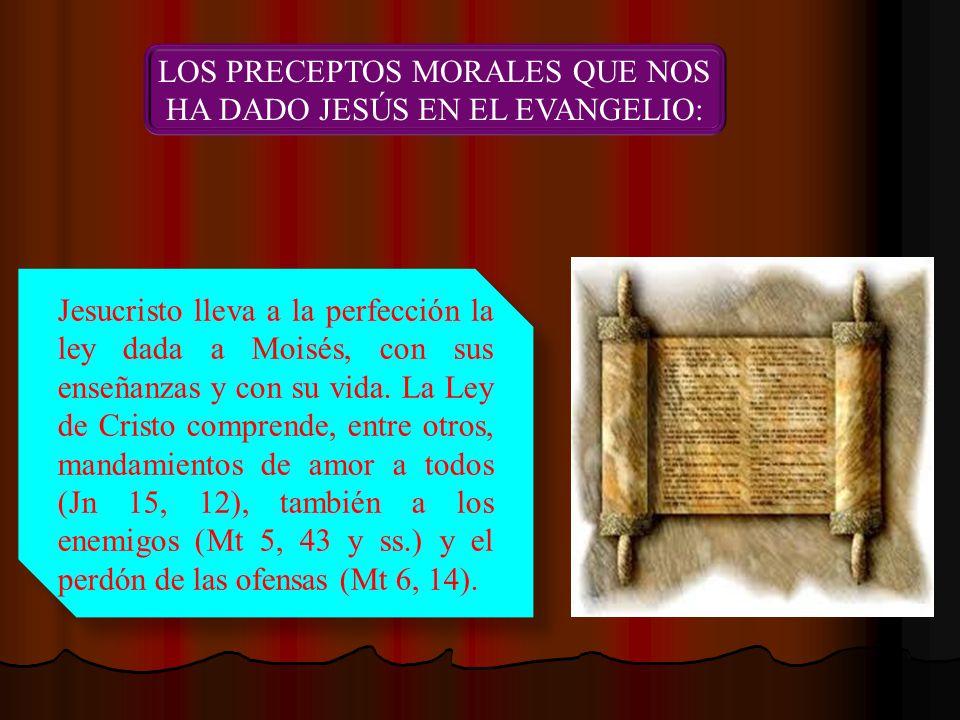 LOS PRECEPTOS MORALES QUE NOS HA DADO JESÚS EN EL EVANGELIO: