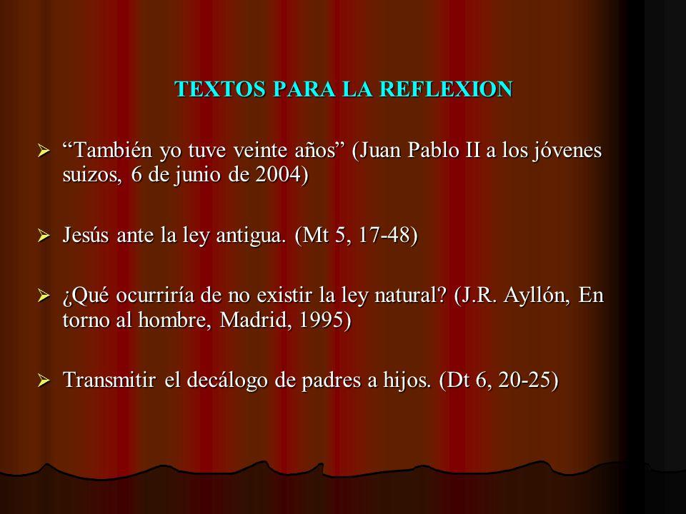TEXTOS PARA LA REFLEXION