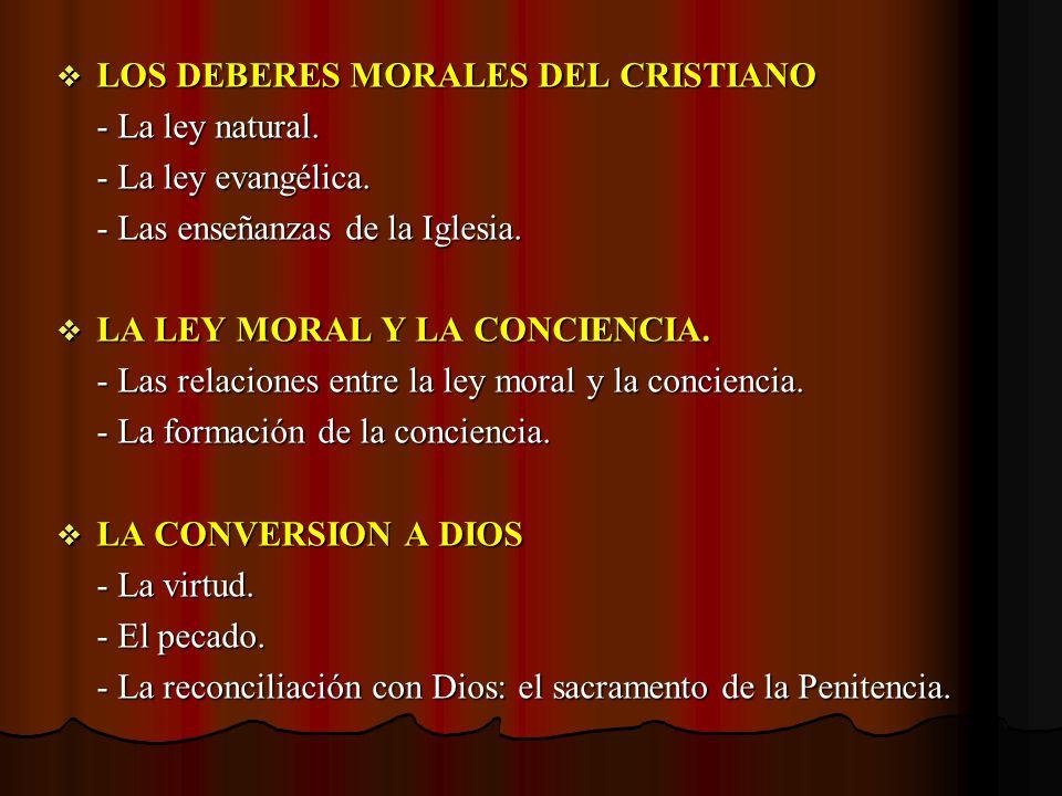 LOS DEBERES MORALES DEL CRISTIANO