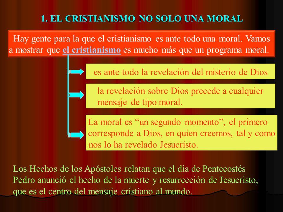 1. EL CRISTIANISMO NO SOLO UNA MORAL