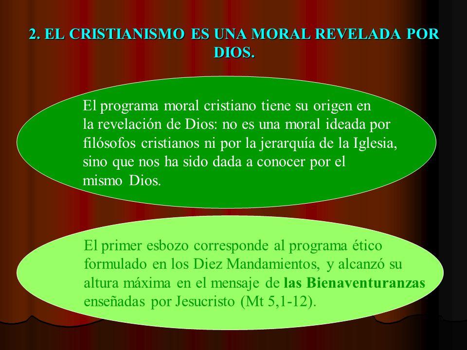 2. EL CRISTIANISMO ES UNA MORAL REVELADA POR DIOS.