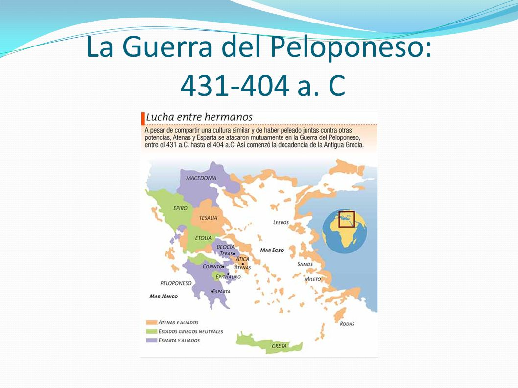 La Guerra del Peloponeso: 431-404 a. C