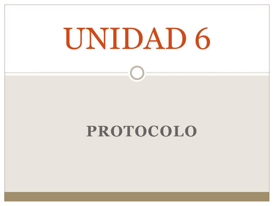 UNIDAD 6 PROTOCOLO