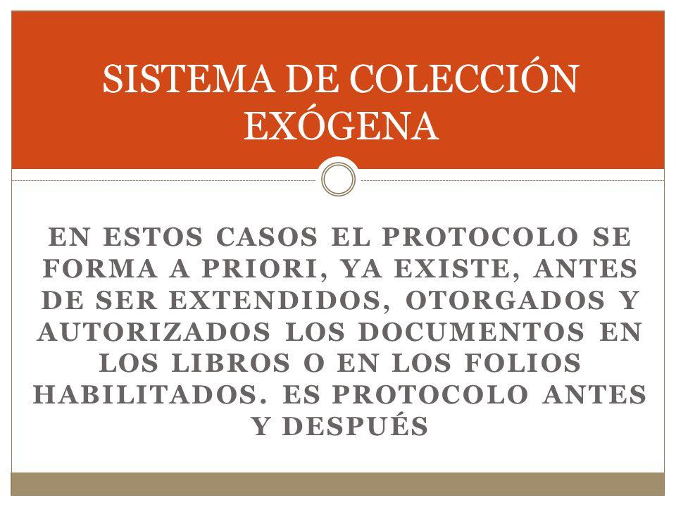 SISTEMA DE COLECCIÓN EXÓGENA