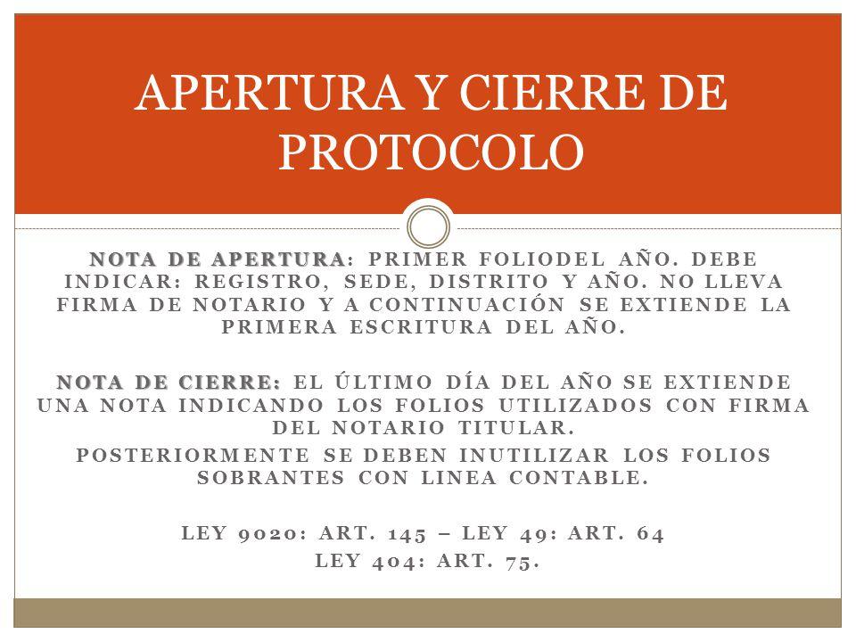 APERTURA Y CIERRE DE PROTOCOLO