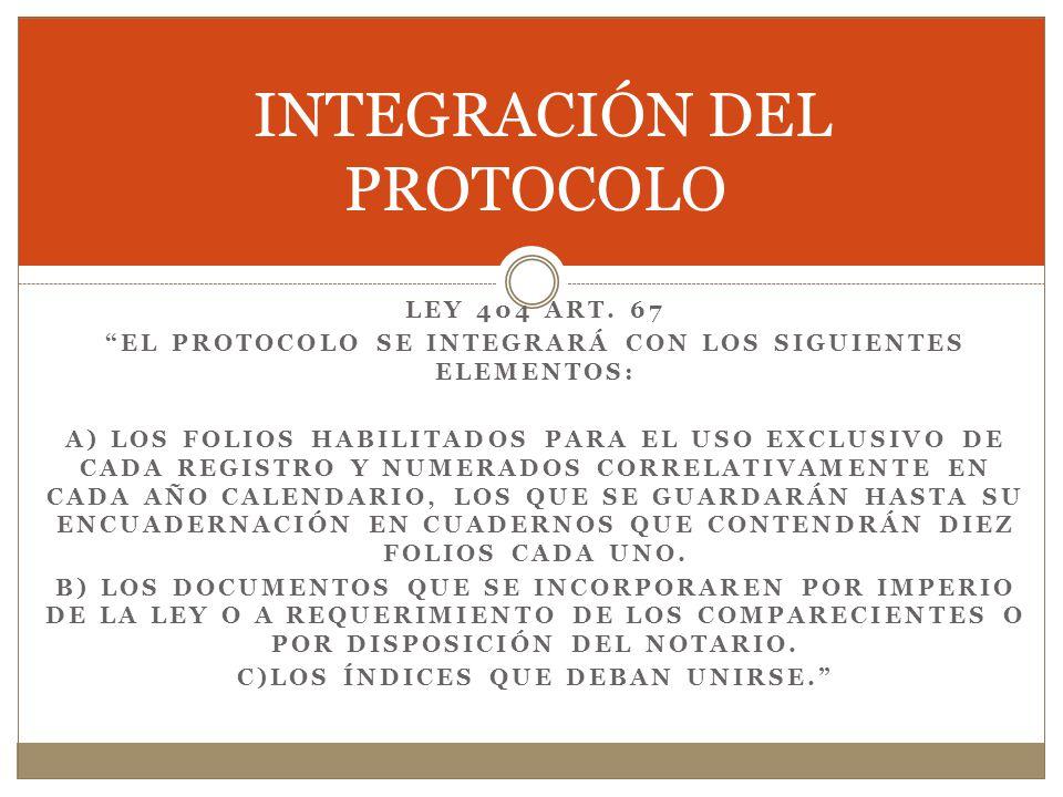 INTEGRACIÓN DEL PROTOCOLO