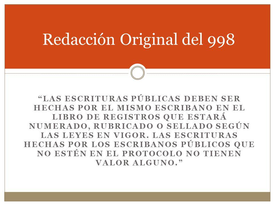 Redacción Original del 998