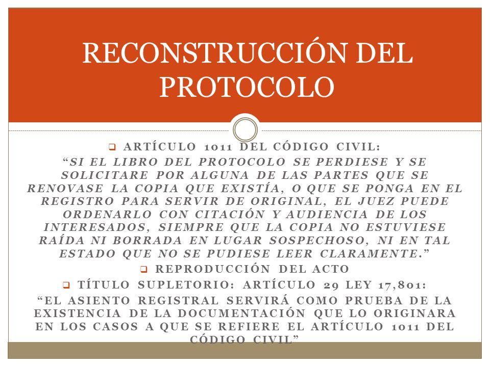 RECONSTRUCCIÓN DEL PROTOCOLO