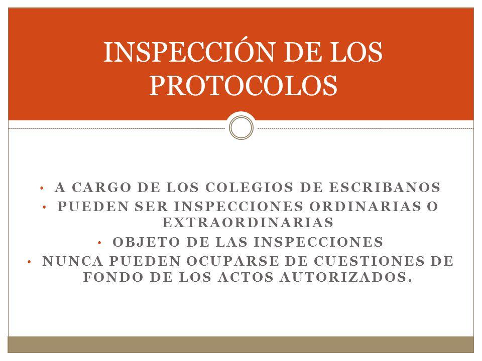 INSPECCIÓN DE LOS PROTOCOLOS