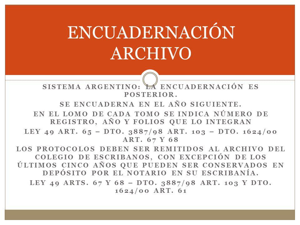 ENCUADERNACIÓN ARCHIVO