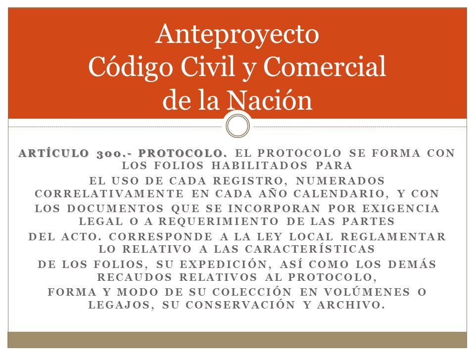 Anteproyecto Código Civil y Comercial de la Nación