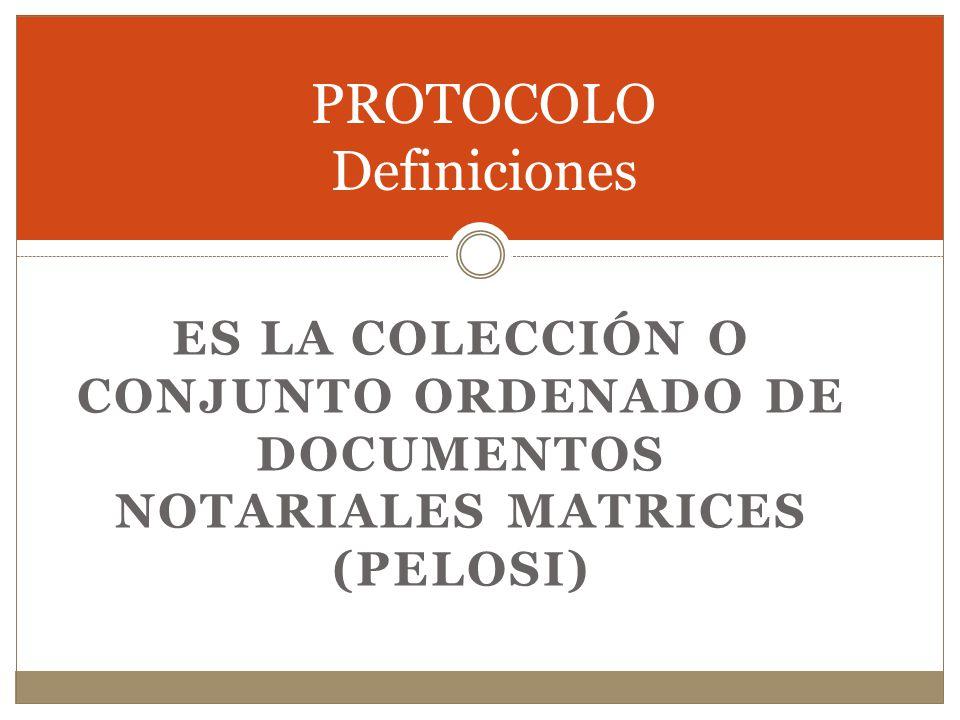 PROTOCOLO Definiciones