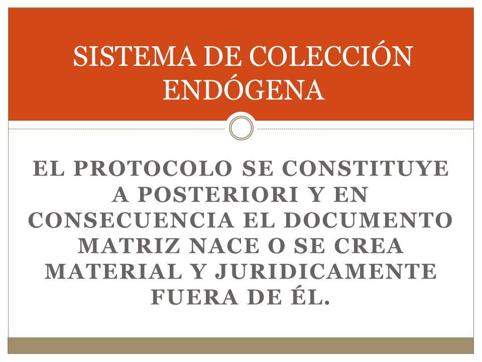SISTEMA DE COLECCIÓN ENDÓGENA