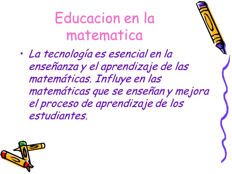 Educacion en la matematica