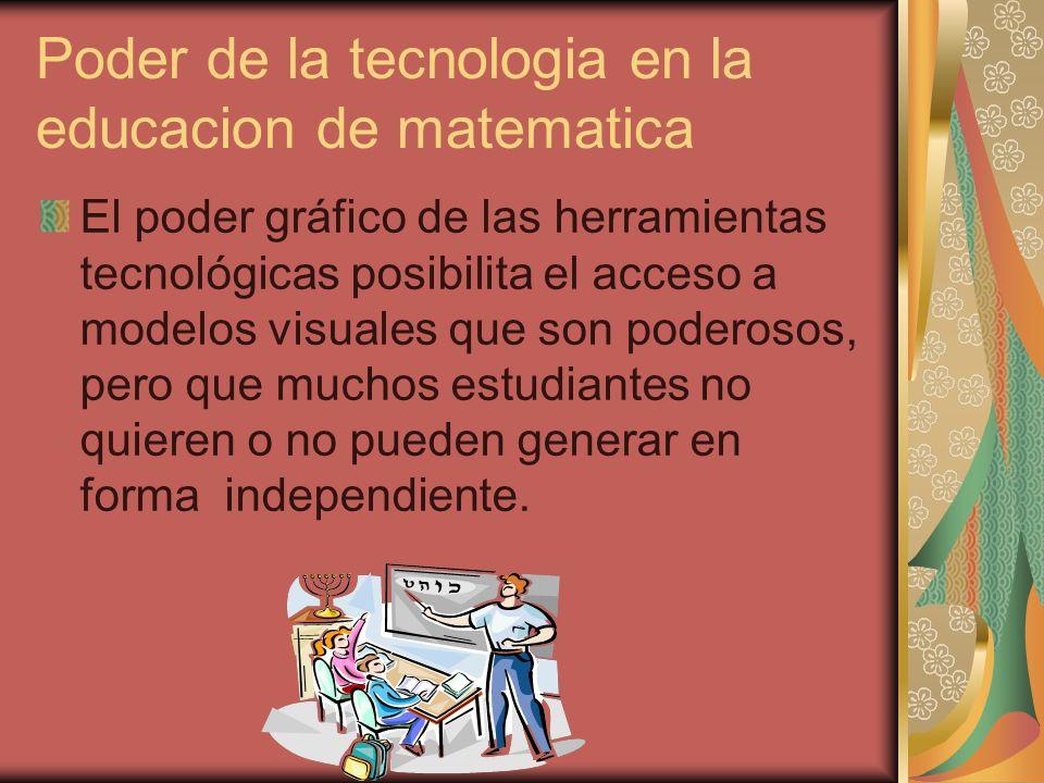 Poder de la tecnologia en la educacion de matematica