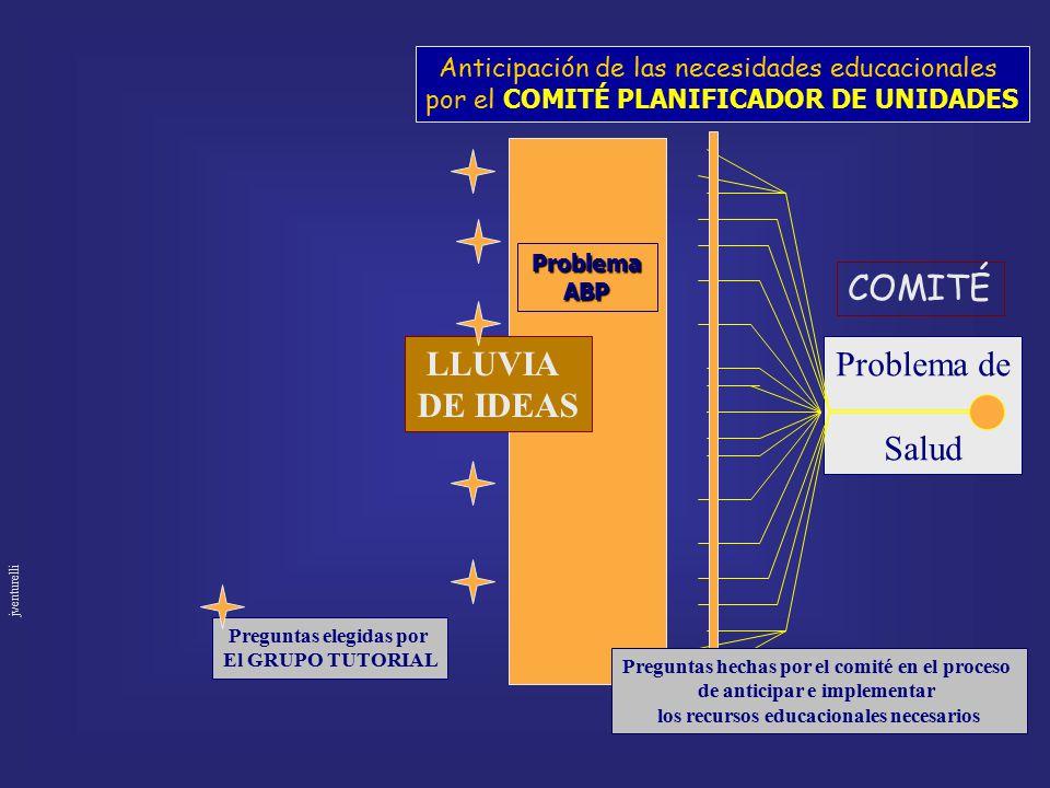 COMITÉ LLUVIA DE IDEAS Problema de Salud