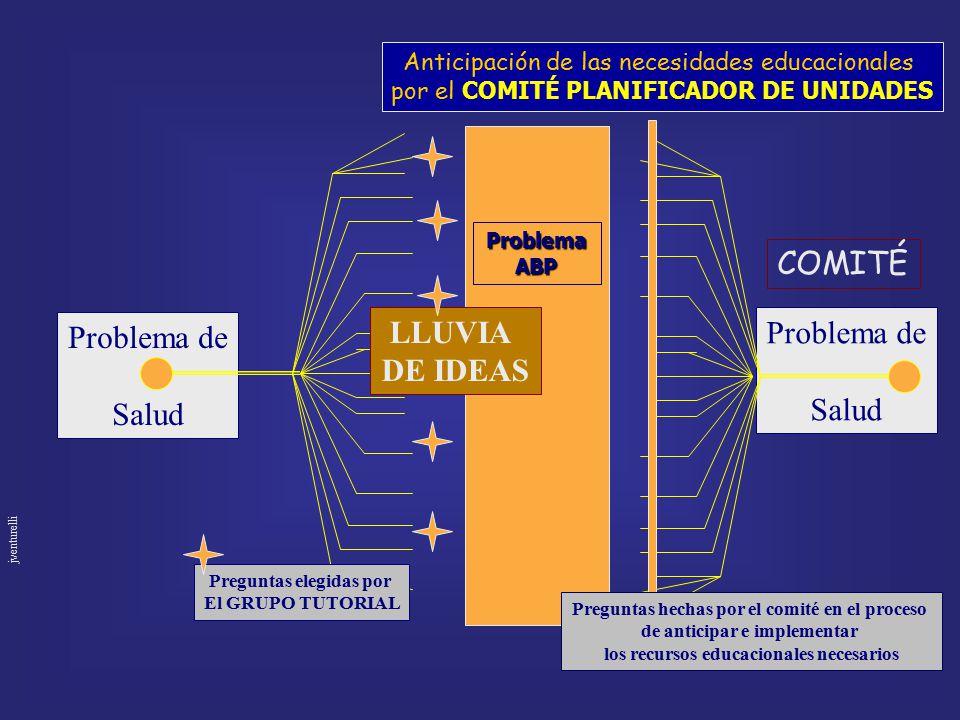 COMITÉ Problema de Salud LLUVIA DE IDEAS Problema de Salud
