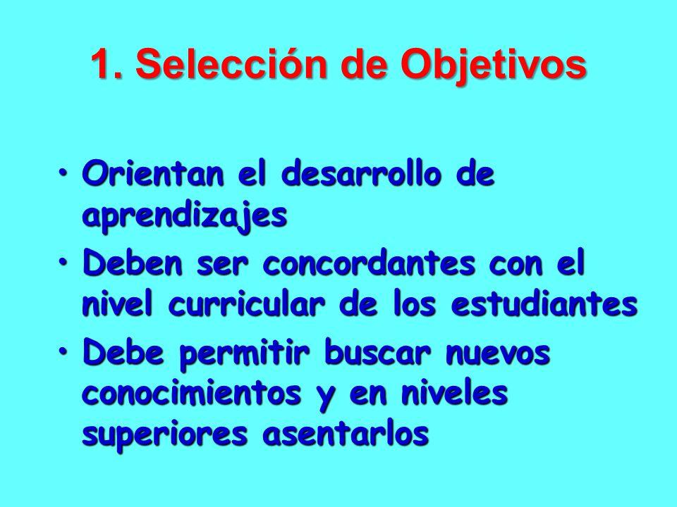 1. Selección de Objetivos