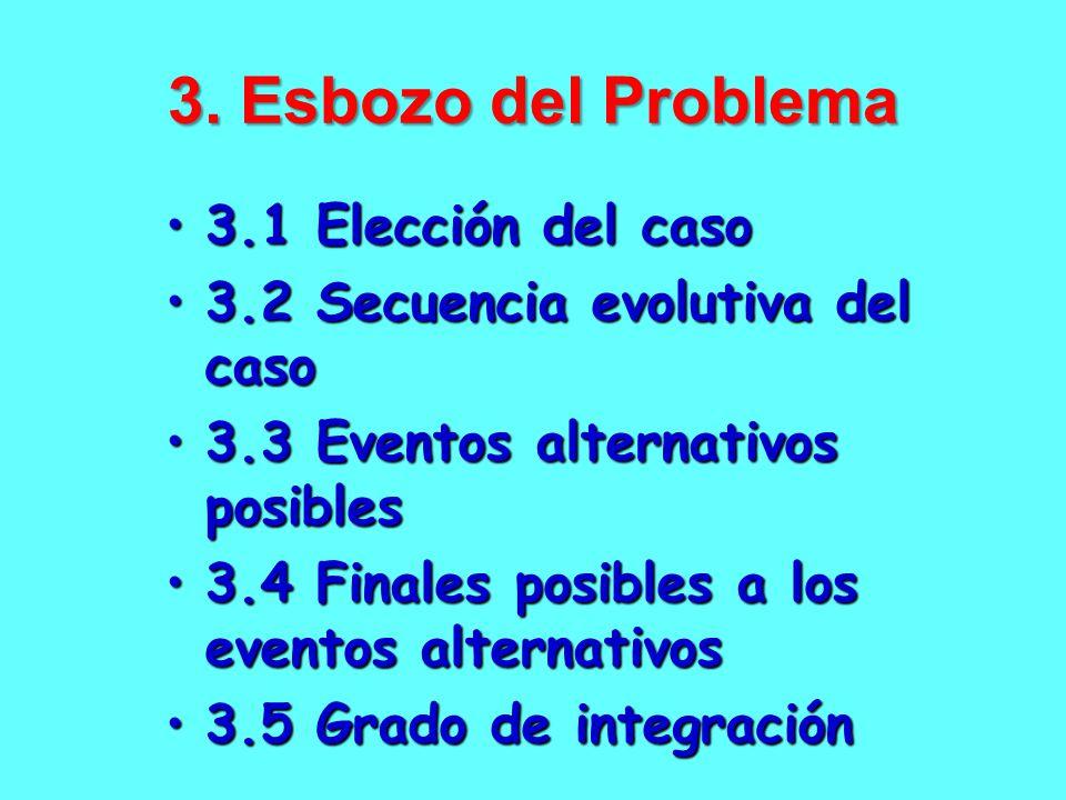 3. Esbozo del Problema 3.1 Elección del caso
