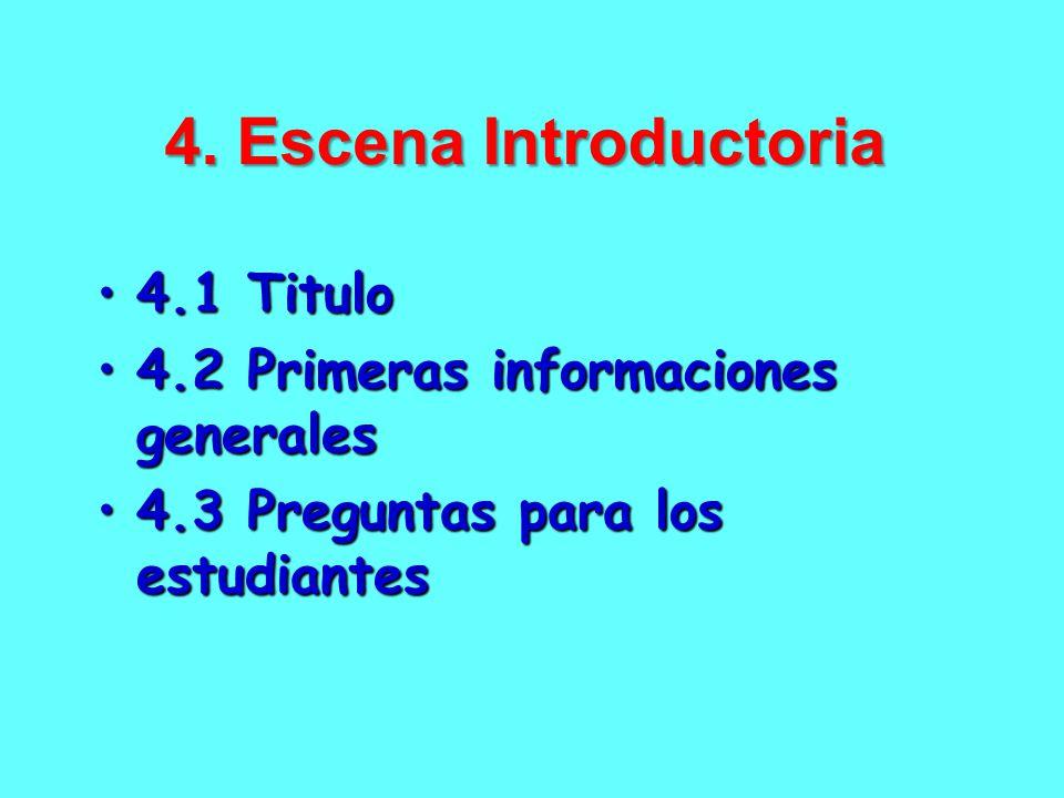 4. Escena Introductoria 4.1 Titulo