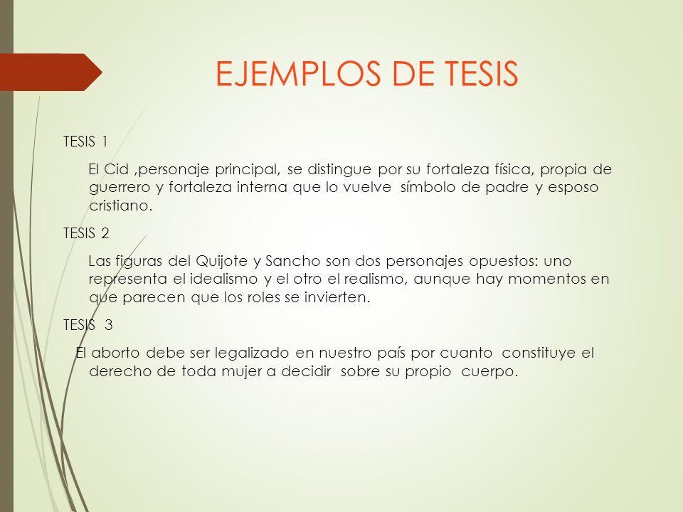 EJEMPLOS DE TESIS TESIS 1