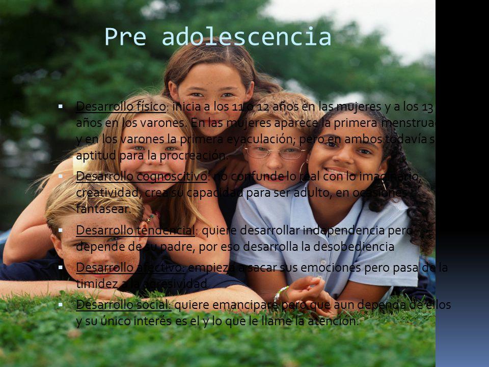 Pre adolescencia