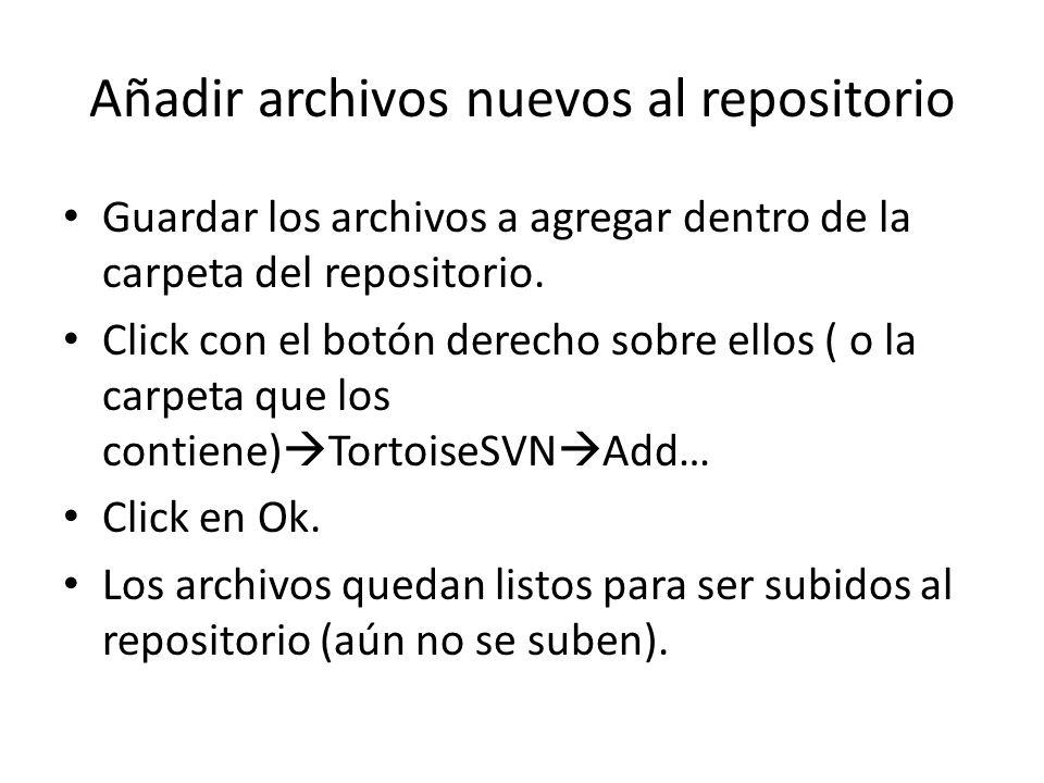 Añadir archivos nuevos al repositorio