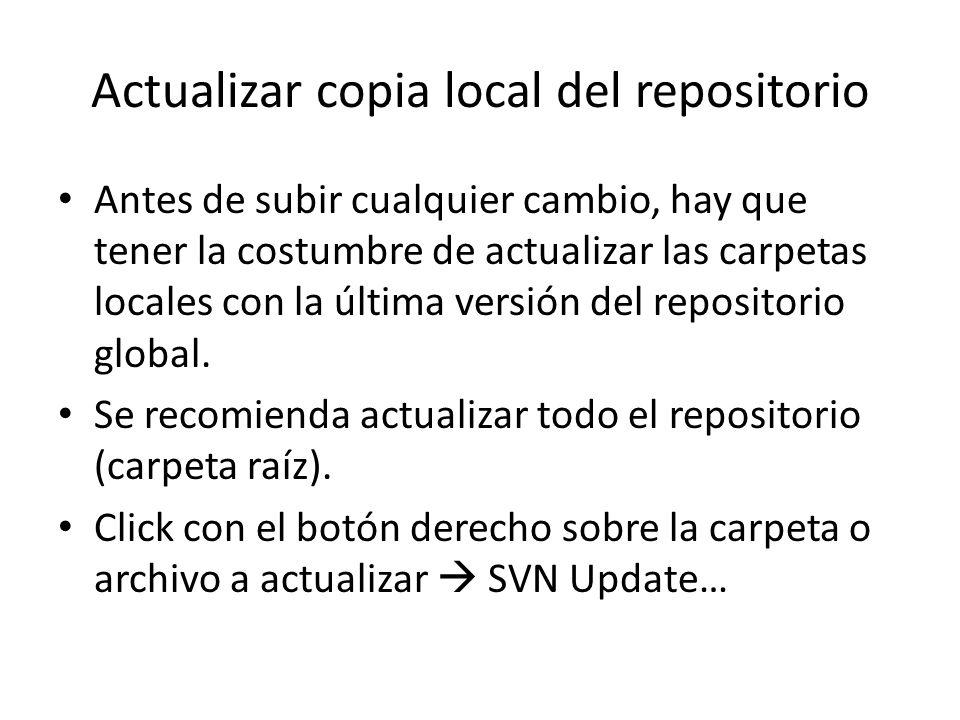 Actualizar copia local del repositorio