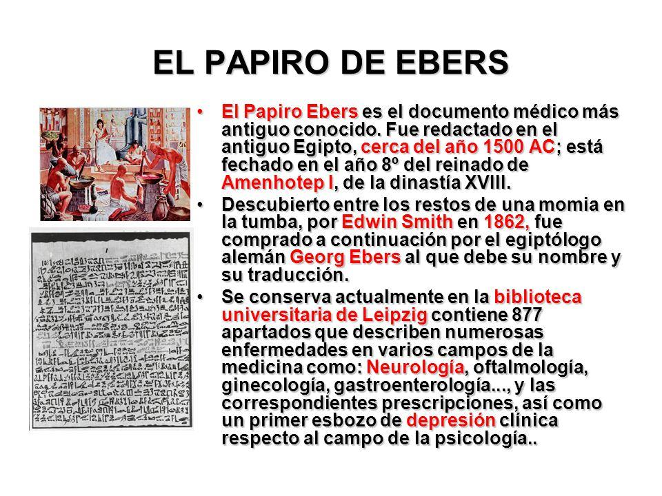 EL PAPIRO DE EBERS