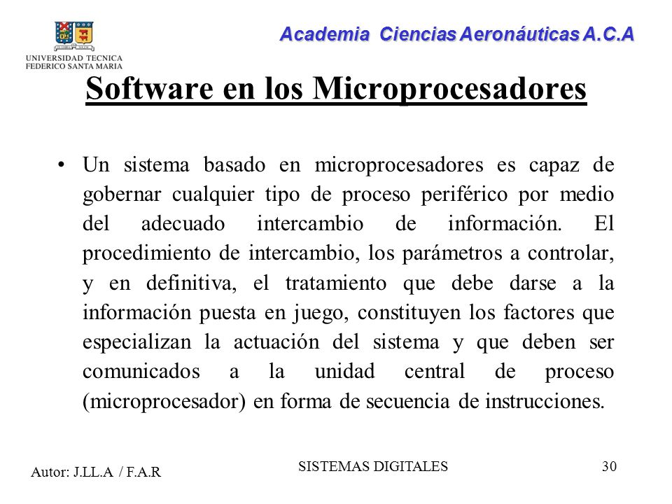 Software en los Microprocesadores