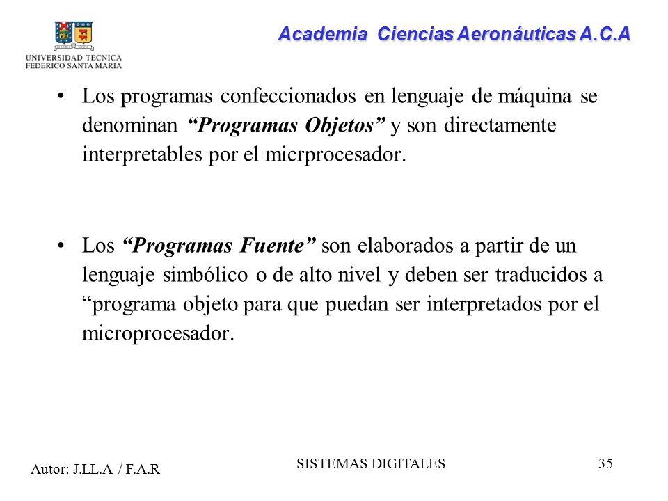 Los programas confeccionados en lenguaje de máquina se denominan Programas Objetos y son directamente interpretables por el micrprocesador.