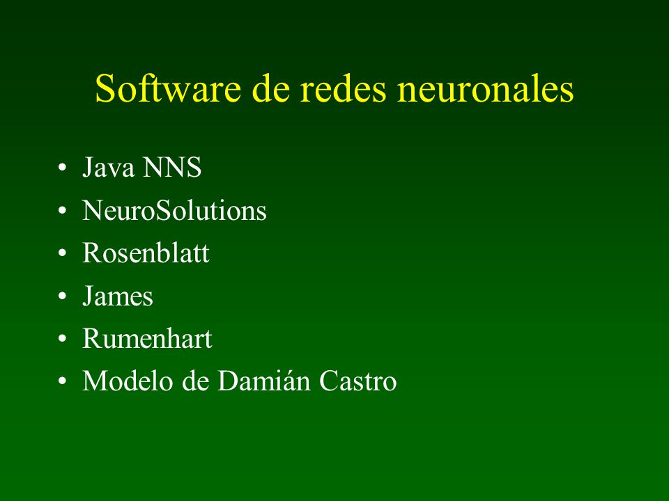 Software de redes neuronales