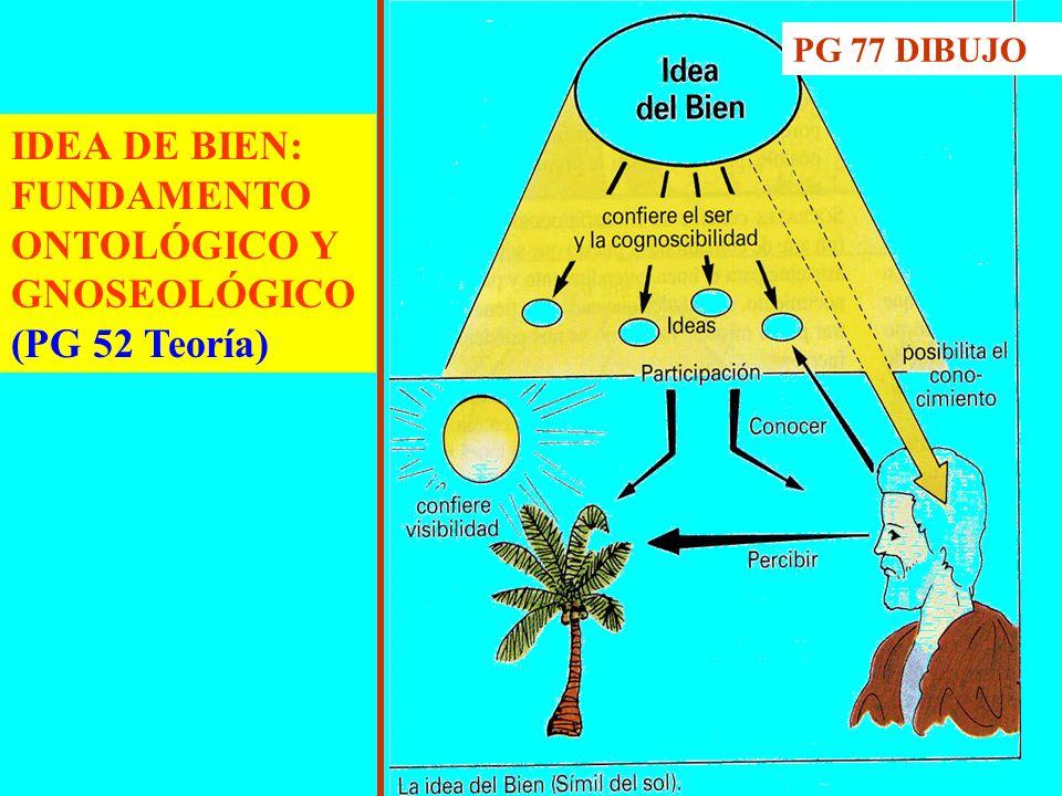 IDEA DE BIEN: FUNDAMENTO ONTOLÓGICO Y GNOSEOLÓGICO (PG 52 Teoría)