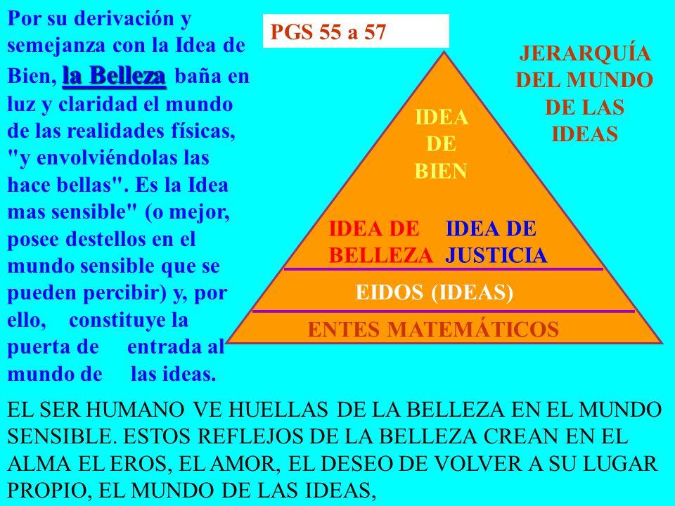 JERARQUÍA DEL MUNDO DE LAS IDEAS