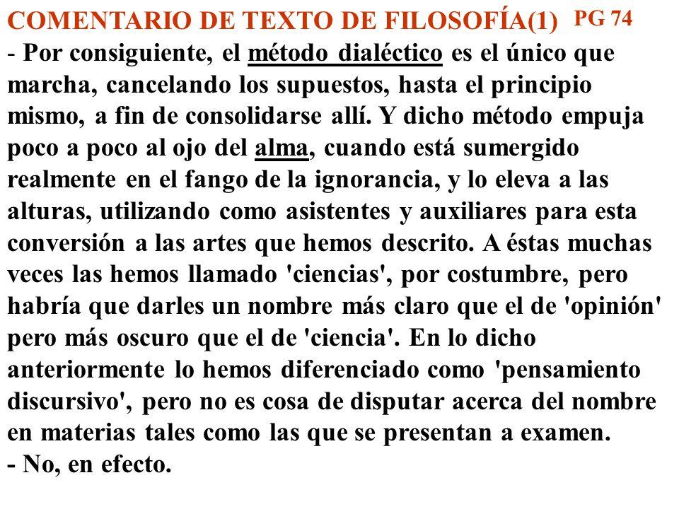 COMENTARIO DE TEXTO DE FILOSOFÍA(1)