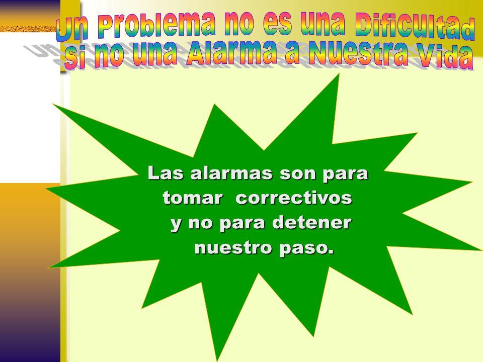 Un Problema no es una Dificultad si no una Alarma a Nuestra Vida