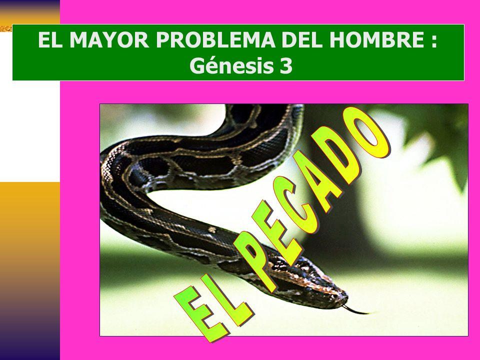 EL MAYOR PROBLEMA DEL HOMBRE :