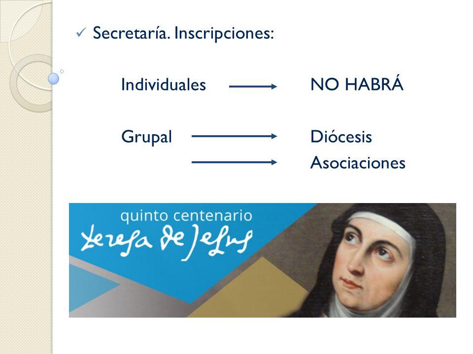 Secretaría. Inscripciones: