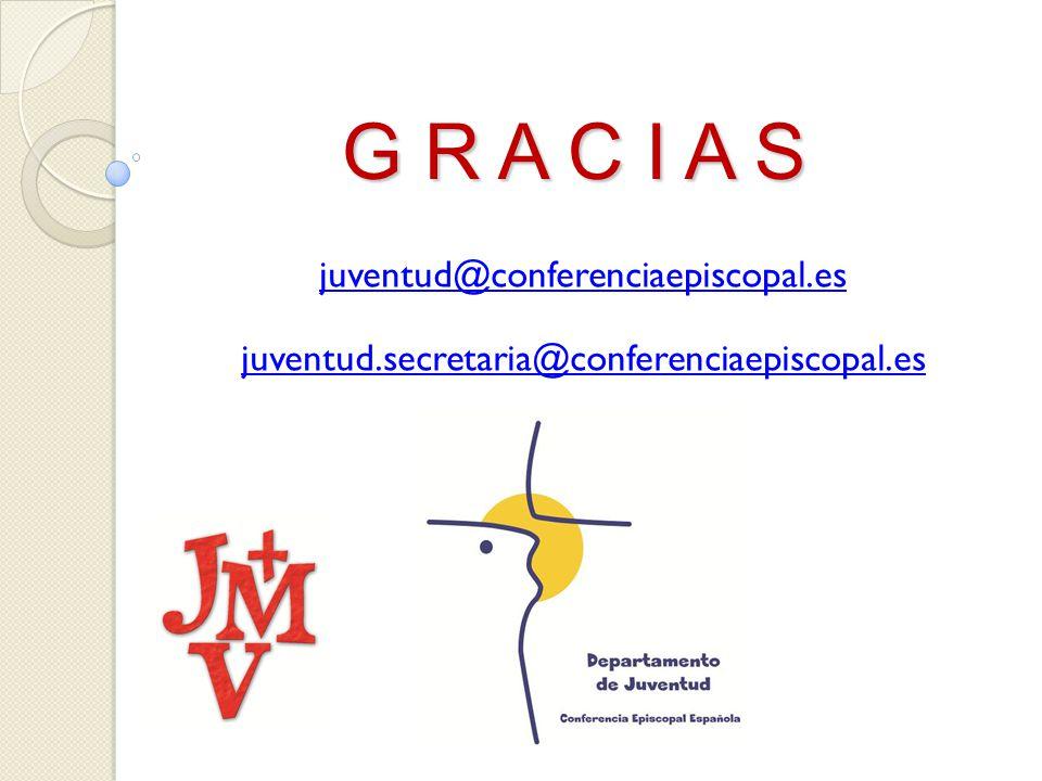 G R A C I A S juventud@conferenciaepiscopal.es