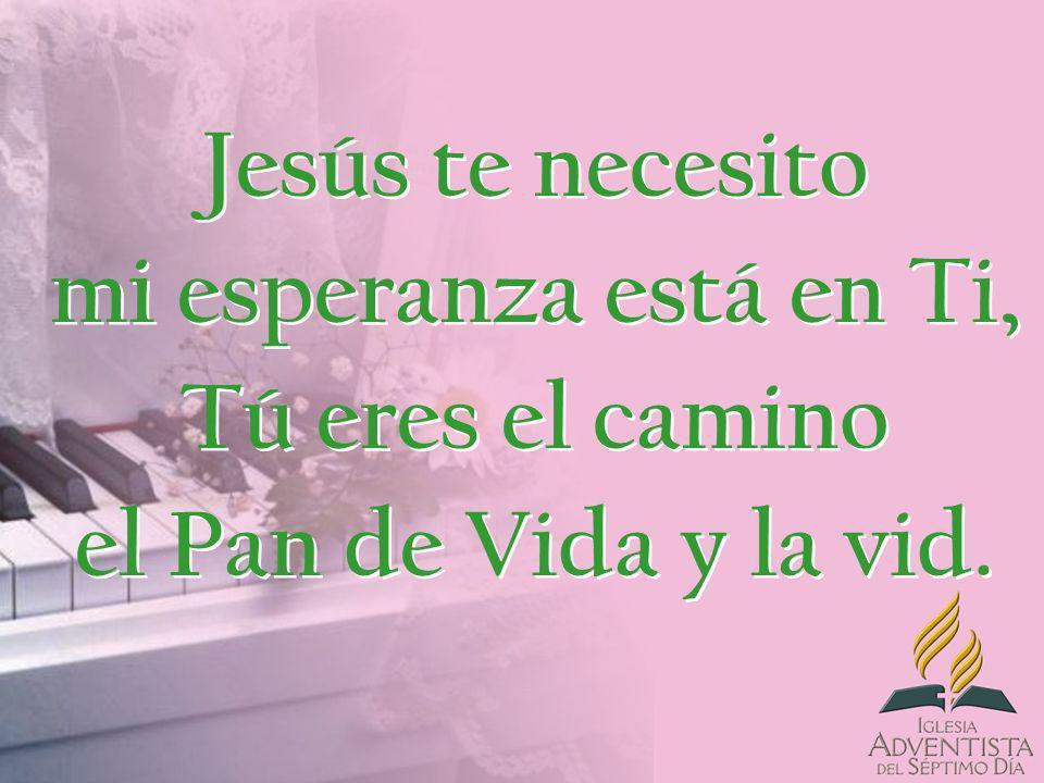 Jesús te necesito mi esperanza está en Ti, Tú eres el camino el Pan de Vida y la vid.