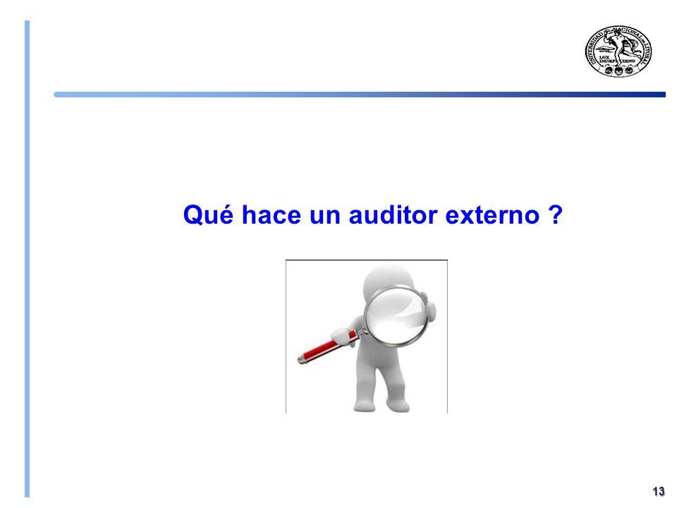 Qué hace un auditor externo