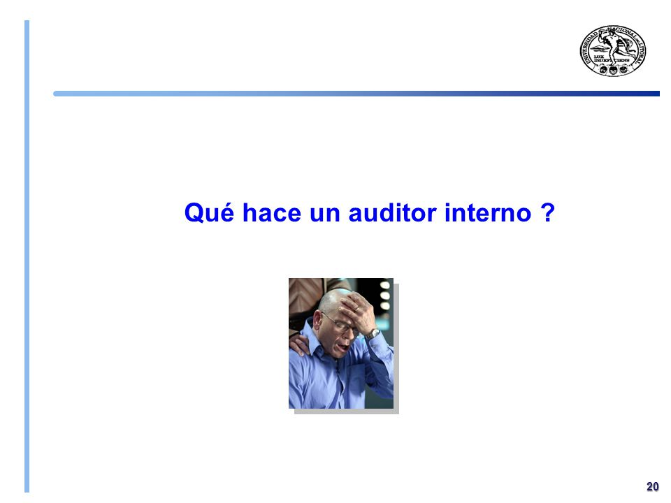 Qué hace un auditor interno