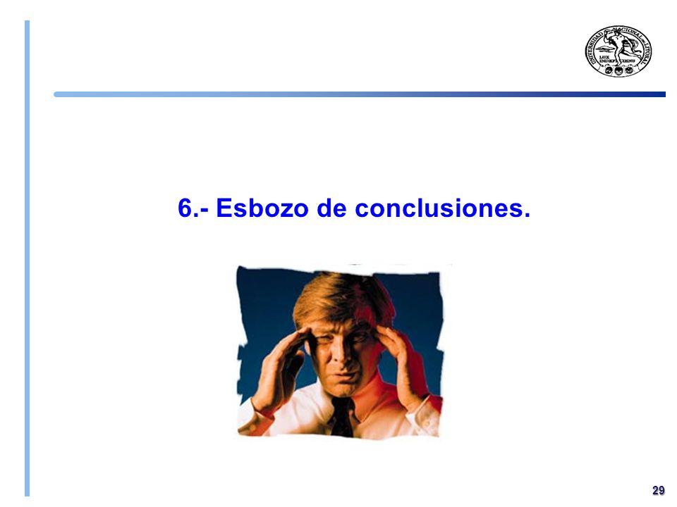 6.- Esbozo de conclusiones.