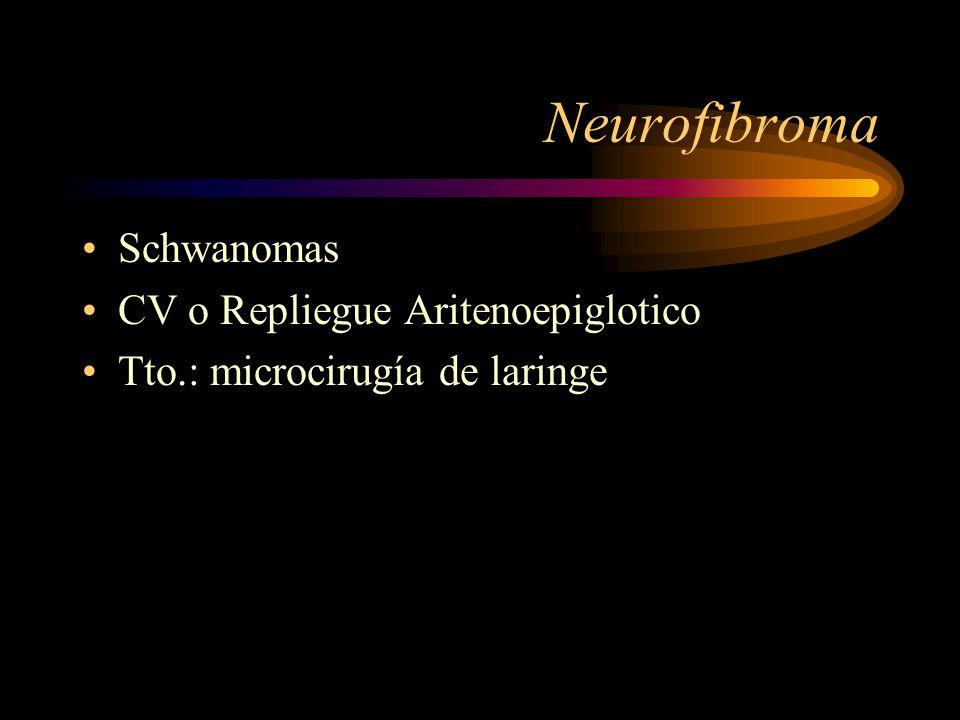 Neurofibroma Schwanomas CV o Repliegue Aritenoepiglotico