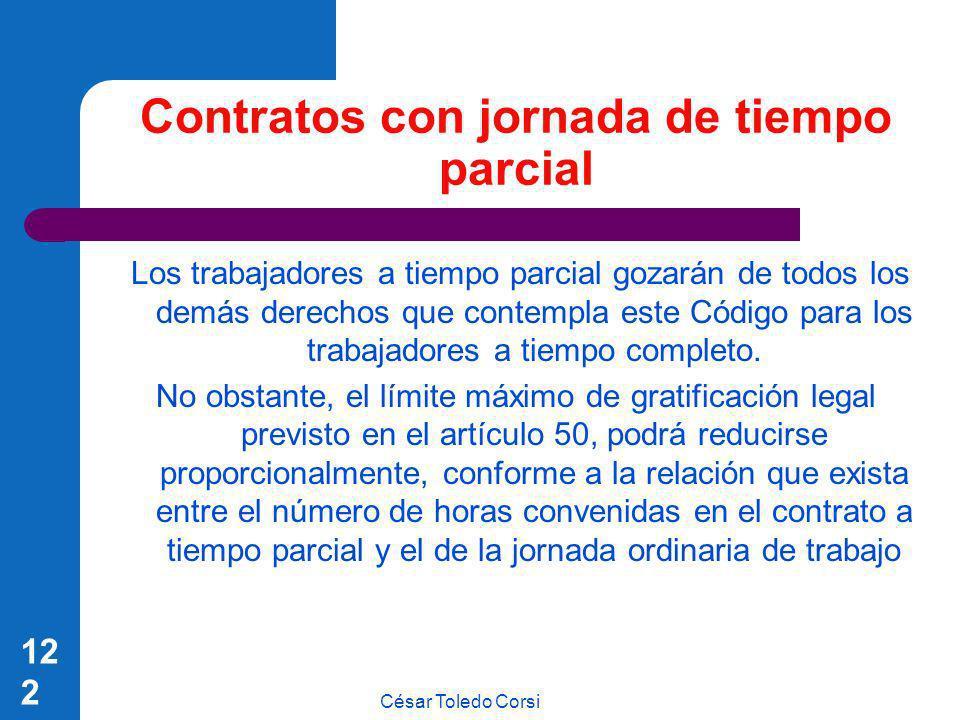 Contratos con jornada de tiempo parcial
