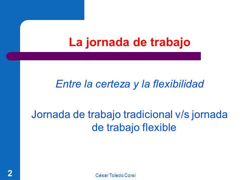 La jornada de trabajo Entre la certeza y la flexibilidad